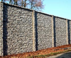 Betonový plot GR – lámána žula