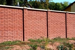 Betonový plot OBR - cihla