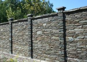 Betonový plot TVD – štípána břidlice